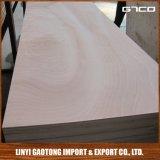 Sr. Glue Door Plywood de la parte posterior de la madera dura de la cara de Okoume de la madera contrachapada de la piel de la puerta de 2.5m m