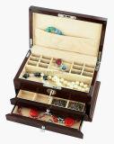 Contenitore di regalo di legno di immagazzinamento in il contenitore di alti di lucentezza del palissandro del piano monili di legno di rivestimento