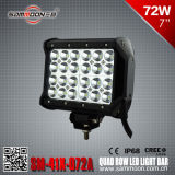 7 인치 72W (24PCS*3W) Quad Row 크리 말 LED Car Driving Light Bar (SM-41X-072A)