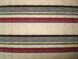 厚い針の銀の縞の編むファブリック