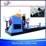 Preiswertere nahtloses Rohr-Gefäß CNC-Plasma-Ausschnitt-Loch-Maschine