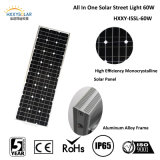 Lithium Battery BackupのDimmable Motion SensorのセリウムRoHS IP65 60W Solar Street Light