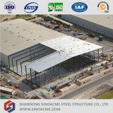 大きいスパン門脈フレームの鉄骨構造の倉庫