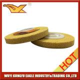 roda de lustro não tecida da alta qualidade de 100X12mm (cor amarela)