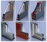 Solo vidrio del estilo de la ventana de aluminio moderna del marco