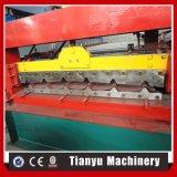 Roulement trapézoïdal de tuile de toit de tôle formant la machine