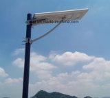容易電池、太陽電池パネルが付いている太陽LEDの街灯をインストールしなさい