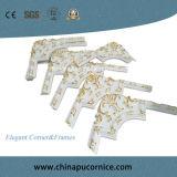 De mooie Decoratie die van de Muur het de Elegante Hoek en Frame van het Schuim van Pu gebruiken