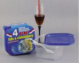 Le plastique de Sqaure emportent le conteneur de nourriture de Microwavable 34oz