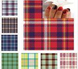 Шотландский стикер ногтя стикеров искусствоа ногтя переноса воды картины шотландки