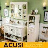 Muebles vendedores calientes del cuarto de baño de las cabinas de cuarto de baño de la vanidad del cuarto de baño de madera sólida del estilo americano (ACS1-W14)