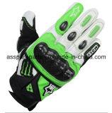 Мотоцикл волокна кожи/углерода качества участвуя в гонке перчатки (MAG14)