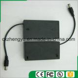 support de la batterie 3AA avec les fils, la couverture et le commutateur de fil de fiche de C.C