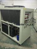 il refrigeratore di acqua raffreddato aria del rotolo di 10ton e di 12ton R407c dentro la pressofusione e la macchina di calandratura
