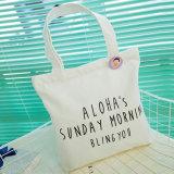 Sacchetti di acquisto in bianco pieghevoli della tela di canapa del cotone del supermercato del blocco per grafici di Eco di promozione
