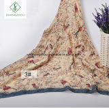 Nationale Art-Schal-Form-dickflüssiges Schal-Elster-Blumen gedruckt