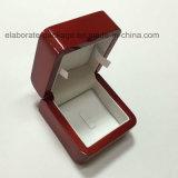 Rectángulo de empaquetado modificado para requisitos particulares de la joyería del anillo de madera del regalo