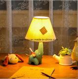 Lumière mignonne de bureau de l'anniversaire DEL de chambre à coucher d'enfants de décoration de dessin animé de résine