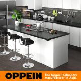 Oppein modernes Belüftung-Ende-hölzerner Küche-Schrank (OP15-PVC06)