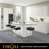 Mobilia bianca della cucina della pittura della maniglia di disegno libero di alluminio della striscia (AP082)