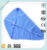 Kleines MOQ Haar des verschiedenen Farben-Großverkauf-, dasMicrofiber Tuch mit Taste trocknet