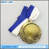 Le métal blanc de médaille de médailles faites sur commande de gravure ouvre le souvenir