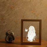 Blocco per grafici di legno della foto di Baymax LED 3D dell'indicatore luminoso creativo di notte
