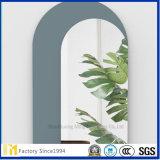 espejo de cristal biselado redondo de la hoja de aluminio Polished de 6m m, espejo decorativo de la pared