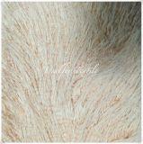Colore rosa riccio della perla dei yak della pelliccia di lusso del Faux