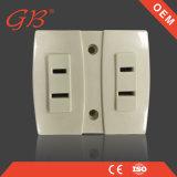 Interruttore elettrico della parete e zoccolo elettrico dello zoccolo di parete