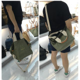 緑の小型の洗浄されたクラフト紙の女性袋(16A088-3)