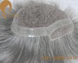 Toupee человеческих волос Remy высокого качества 100% для старика