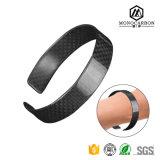 Heißer Verkauf im Alibaba Kohlenstoff-Faser-Klaps-Armband-Armband für Luxuxarmband-Frauen