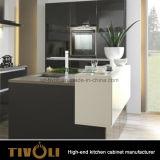 Exquisitos gabinetes de pared blanco con chapa de base Armarios Tivo-D009h