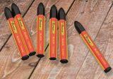 noir imperméable à l'eau non-toxique de borne de crayon lecteur d'inscription de crayon de l'inscription 6PCS