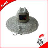Sombrero natural de Sun de la paja del 100%