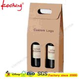 Fabrik Corrugated Cardboard Wine Box mit Handle u. Window für Three Bottles Wine Packaging