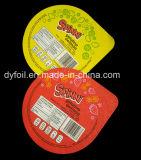 tampas da folha do iogurte de 95mm com espessura 38 mícrons