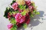 Дешевые Silk искусственние цветки Hydrangea для украшения венчания