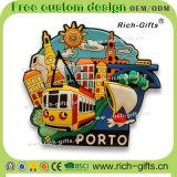 Souvenir personnalisé Porto (RC-PT) d'aimants de réfrigérateur de PVC de décoration d'articles promotionnels de cadeau