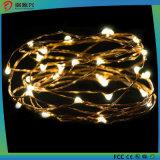 Lumières de chaîne de caractères, câble métallique jaune chaud lumineux superbe de couleur Lumière-Jaune