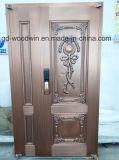 Porte de cuivre pure de garantie de porte de travail manuel de qualité de Woodwin