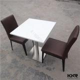 カスタム純粋で黒いレストランの表および椅子