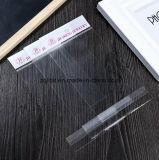 Sachet en plastique transparent de Customzied BOPP pour la chaussette avec le sac clair transparent de tissu de violoncelle de rectangle de Headblock de film de perle/LDPE avec auto-adhésif