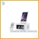 De vierkante Dokkende Post van de Wekker van de Desktop Elektronische Voor de Slaapkamer van het Hotel