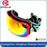 Neve personalizada da névoa do inverno da cinta a anti ostenta a lente dupla esférica dos óculos de proteção unisex