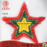 LED coloré en rotin PVC 6W IP65 Star motif décoratif lumière de corde de Noël