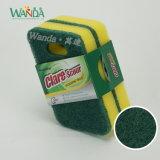 Pista de fregado abrasiva colgante fácil de forma diamantada y estropajo de alta densidad de la esponja para la limpieza de la cocina