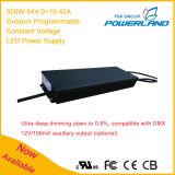 bloc d'alimentation continuel programmable extérieur de la tension DEL de 500W 54V 0~10.42A