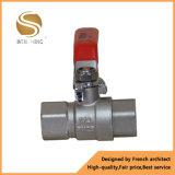 Válvula modificada para requisitos particulares agua de cobre amarillo portuaria llena de la talla estándar de 2 maneras